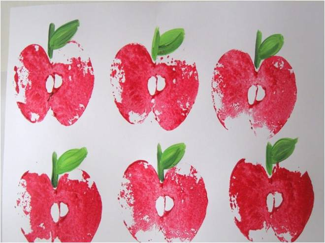 APPLE PRINTING-Letter a activities for preschool