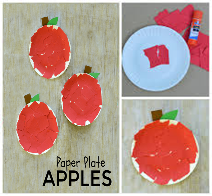 Letter a activities for preschool-Paper plate apples