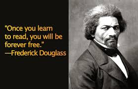 Learning to read and write by Frederick Douglass