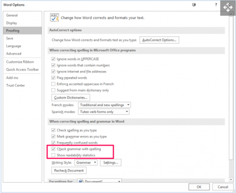How to get readability in word-step 2